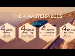 Lamborghini Aventador S: the 4 Masterpieces
