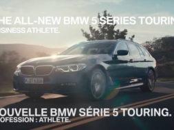 Nouvelle BMW Série 5 Touring. Profession : athlète.