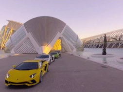 Lamborghini Aventador S Dynamic Launch in Valencia