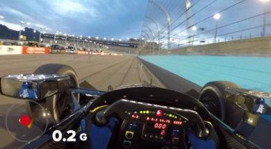 Visor Cam: Graham Rahal at Phoenix Raceway