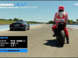 Duel : Kawasaki Ninja H2R vs Audi R8 V10