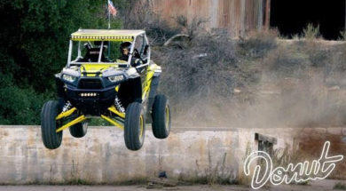 Construction Site Jumps in a RZR Side-by-Side UTV w/ Tanner Foust | Donut Media