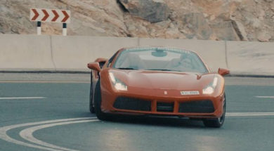 488 v 650S Jabal Jais road race