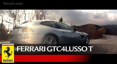 Kimi Raikkonen at the wheel of the Ferrari GTC4Lusso T