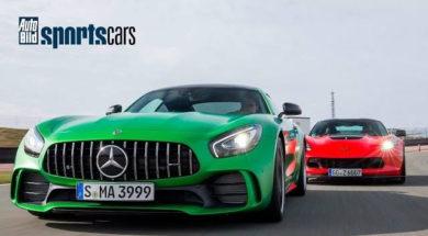 Mercedes-AMG GT R vs Corvette Z06: 0-200 km/h DUELL / Drift – AUTO BILD SPORTSCARS