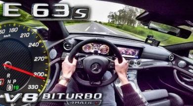 Mercedes AMG E63 S, pied au planche sur l'Autobahn