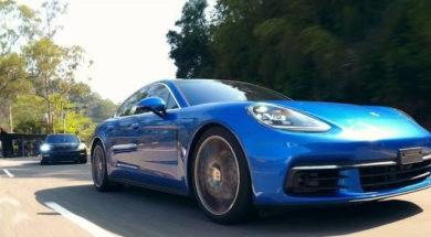 La nouvelle Porsche Panamera sur les rives du lac du soleil et de la lune à Taiwan