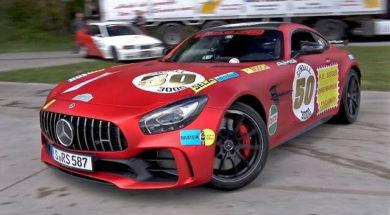 Pathétique Drift en Mercedes AMG GTR