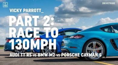 laquelle est la plus rapide de 0 à 130 mph : Audi TT RS / BMW M2 / Porsche 718 Cayman S