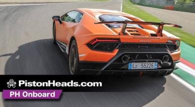 Caméra embarquée de la Lamborghini Huracan Performante à Imola