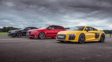 Duel Top Gear : Audi R8 V10 Plus / Audi RS6 / Audi S8