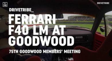 Caméra embarquée en Ferrari F40 LM à Goodwood