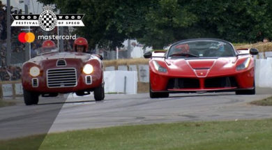 Duel Ferrari à Goodwood : LaFerrari Aperta / 125S