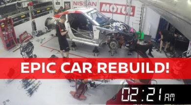 24 Heures de Spa : 12 heures pour reconstruire une Nissan GT-R Nismo GT3