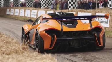 La McLaren P1 GTR (2017) à Goodwood entre les mains de Sport-Auto