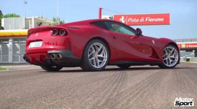 Caméra embarquée en Ferrari 812 Superfast à Fiorano