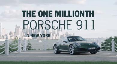 La millionième Porsche 911 à New York