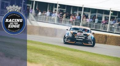 Le champion de drift Chris Forsberg fait le show Goodwood