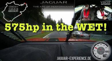 JAG Taxi : 575 chevaux sur le mouillé au Nürburgring