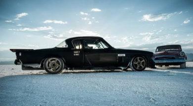 Speedweek sur le lac salé de Bonneville en Studebaker de 1955