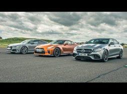 DRAG RACE Nissan GT-R vs Audi RS7 vs Mercedes E63 S AMG