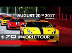 Ferrari fête ses 70 ans à Singapour