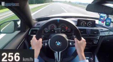 La BMW M4 Competition sur l'Autobahn