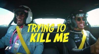 Lewis Hamilton vs. Usain Bolt en AMG GT-R