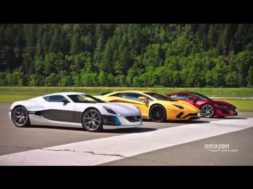 The Grand Tour Lamborghini Aventador, Honda NSX et Rimac Concept One