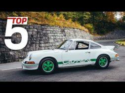 Porsche Top 5, les plus légères de toutes