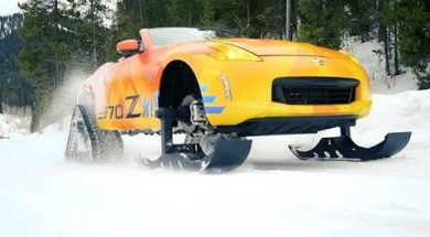 Vive les sports d'hiver avec la Nissan 370Zki