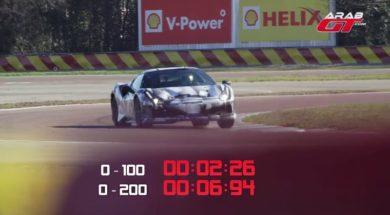Hallucinant, 0 à 100 kmh en 2,26 secondes pour la Ferrari 488 Pista