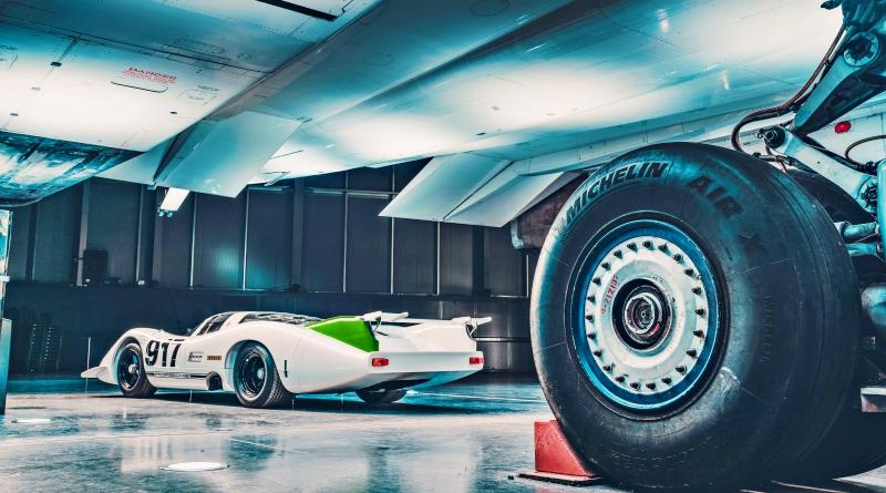 Porsche 917 et Concorde, pas plus haute qu'un pneu