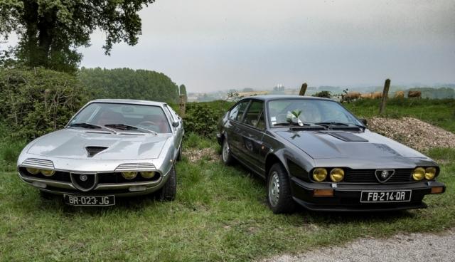 Alfa Romeo Montreal et GTV6 - Belles autos, bons amis et bonne musique le 1er mai à Cassel