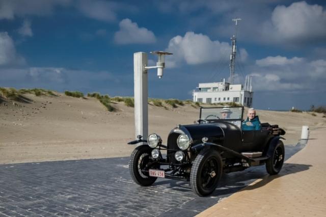 Bentley 3 litres Tourer, en route