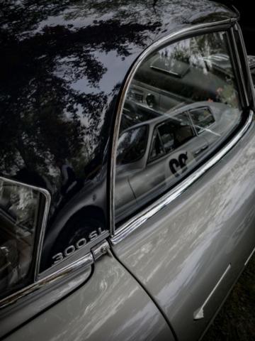 Mercedes 300 sl détail - Belles autos, bons amis et bonne musique le 1er mai à Cassel