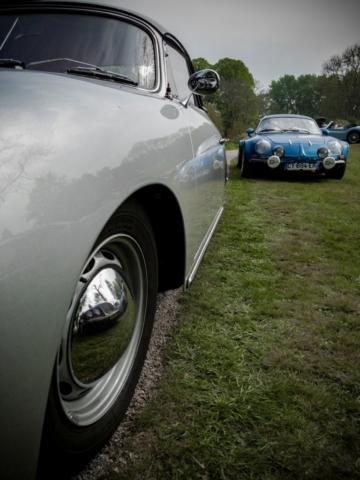 Porsche 356 et Alpine A110 1600sc - Belles autos, bons amis et bonne musique le 1er mai à Cassel