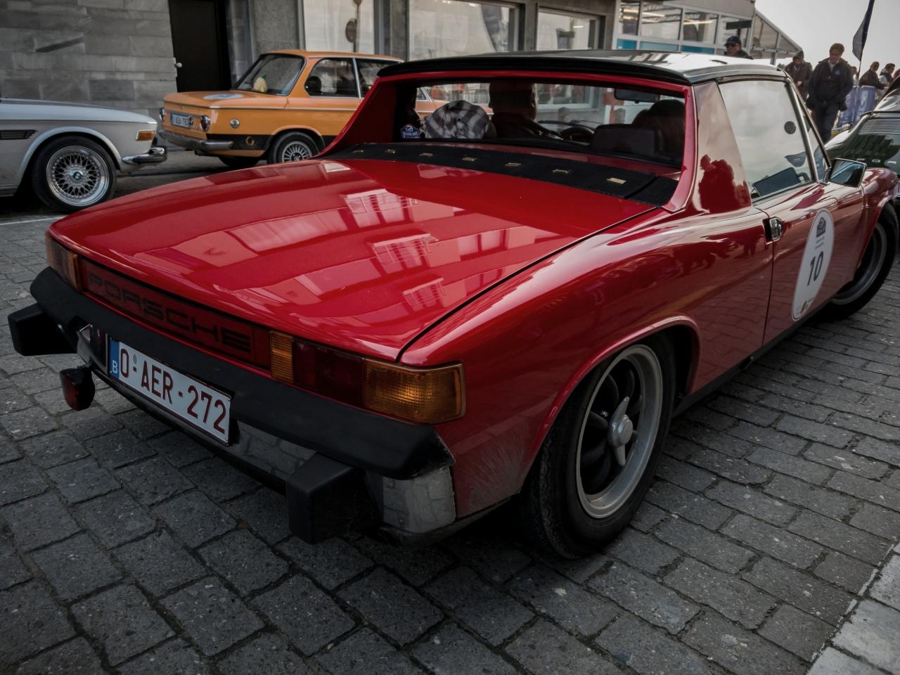 Porsche 914 à l'arrivée