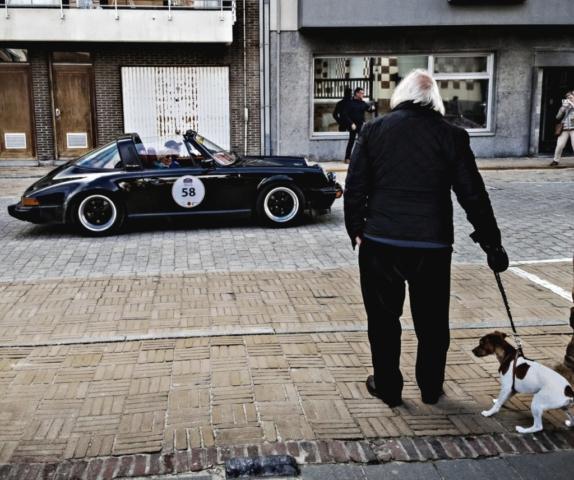 Porsche Carrera 3.0 targa et le chien