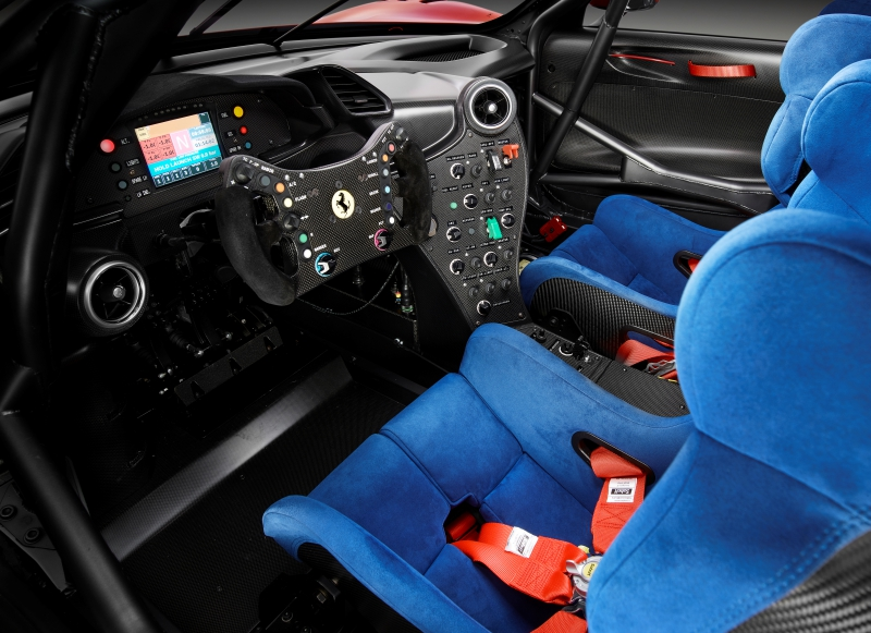 Ferrari P80/C, un intérieur racing