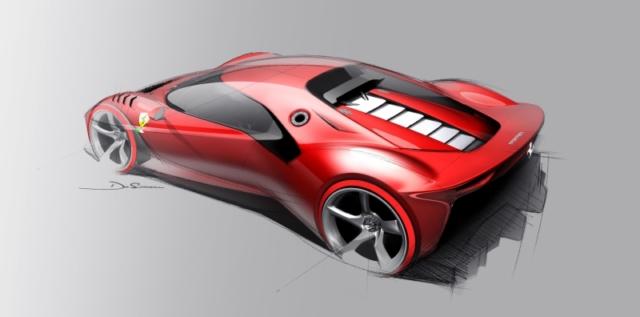 Une étude de design proche de la Ferrari P80/C finale