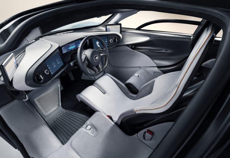 L'intérieur de la McLaren Speedtail est personnalisable.