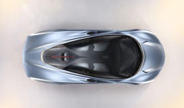 McLaren Speedtail vue d'en haut