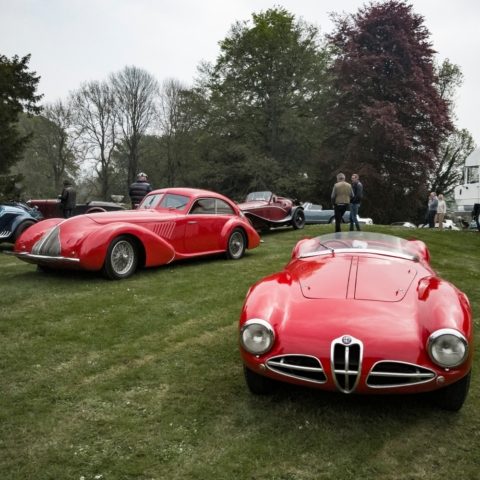 Alfa Romeo 1900 C52 Disco Volante a fianchi stretti par Touring, Alfa Romeo 8C 2900 A Berlinetta par Pininfarina et Alfa Romeo 8C Spider par Touring
