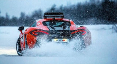 McLaren 570S Ice Driving With Bruno Senna