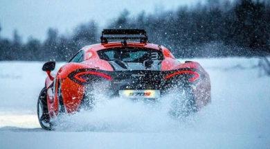 McLaren 570S Ice Driving With Bruno Senna