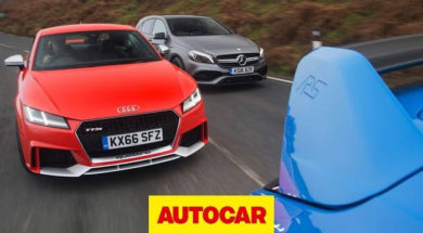 Audi TT RS v Mercedes-AMG A45 v Ford Focus RS | Ultimate all-weather Audi TT RS review | Autocar