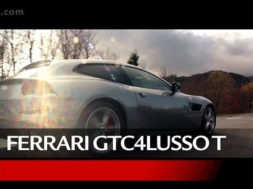 Kimi Raikkonen at the wheel of the Ferrari GTC4Lusso T