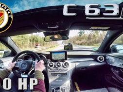 Mercedes C63 AMG S 750 HP MANHART 311 km/h AUTOBAHN