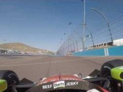Indycar : visor cam de Marco Andretti sur la piste de Phoenix International Raceway
